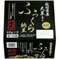 おかめ 秋田県産大豆を使ったふっくら納豆 (40g×3)