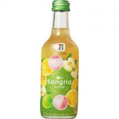 セブンプレミアム フルーツたっぷり 濃いサングリア グレフル&桃&りんご 1本(250ml)
