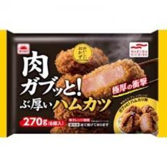 宮城県などの国内工場製造 マルハニチロ 肉ガブッと!ぶ厚いハムカツ (6コ入)
