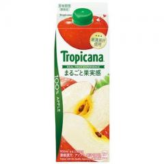 トロピカーナ 100%まるごと果実感 アップル 1本(900ml)【ポイント10倍】
