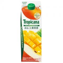 トロピカーナ 100%まるごと果実感 マンゴーブレンド 1本(900ml)