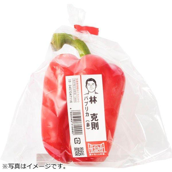 パプリカ(赤色)1コ 茨城県などの国内産『顔が見える野菜。』
