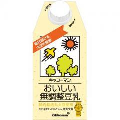 キッコーマン おいしい無調整豆乳 1本(500ml)