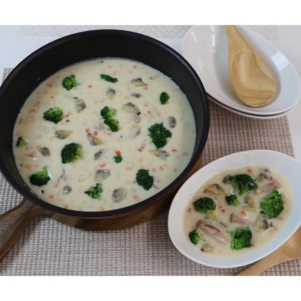 ミールキットオリジナルソース 特製生乳仕立てのホワイトソース(クラムチャウダー シチュー皿4皿分×3袋)【冷凍ソース】