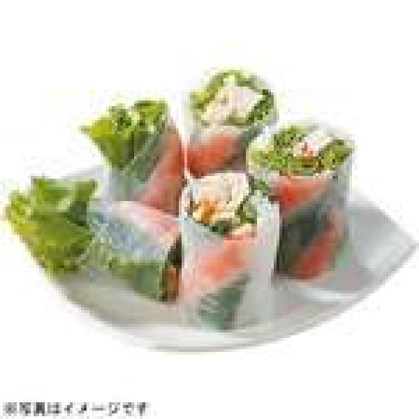 【新登場】<本日調理したお惣菜をお届け>七種野菜のサラダ生春巻(海老)スイートチリソース付