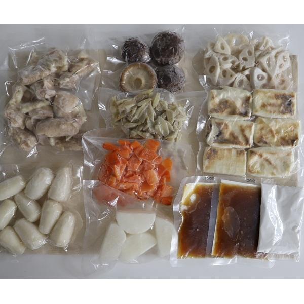 <冷凍4人前×2セット>鶏肉と根菜の生姜お雑煮鍋