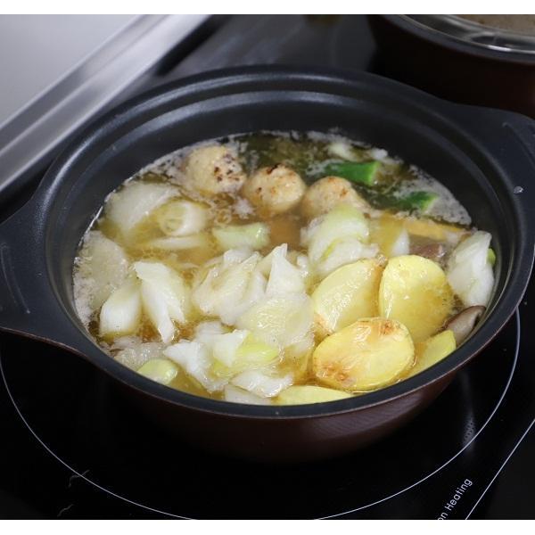 <冷凍2~3人前×2セット分>からだ温まる!にんにくやきとり鍋<土鍋直径21cm使用>