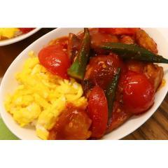 <冷凍2人前×2セット>帆立と白身魚の甘チリDON<カット済野菜・計量済調味料>【20%OFFクーポン対象】