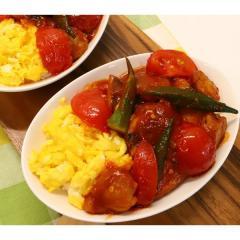 <冷凍2人前>帆立と白身魚の甘チリDON(2人前)<カット済野菜・計量済調味料>【20%OFFクーポン対象】