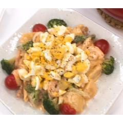 <冷凍4人前>オーロラソースDE海老とポテトのホットサラダ(4人前)<カット済野菜・計量済調味料>【20%クーポン対象】