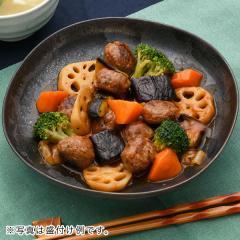 <冷凍2人前>肉団子とごろごろ野菜の甘酢炒め2人前<カット済野菜・計量済調味料>