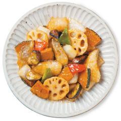 【基本セット】野菜が美味しい!彩野菜と白身魚の黒酢あんかけ(2人前)<野菜カット済み・調味料計量済み>