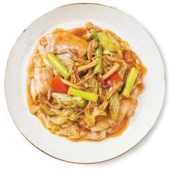 【基本セット】きのこ香る!豚肉と三種きのこのXO醤炒め(2人前)<野菜カット済み・調味料計量済み>