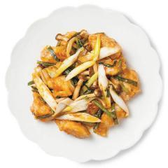 【基本セット】お子様大好き!きのことニラのガリバタチキン(2人前)<野菜カット済み・調味料計量済み>