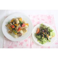 【新登場】<期間限定ミールキット&サラダセット>野菜が美味しい!彩野菜と白身魚の黒酢あんかけ(2人前)&旨塩チョレギサラダ2人前【バイヤー厳選】