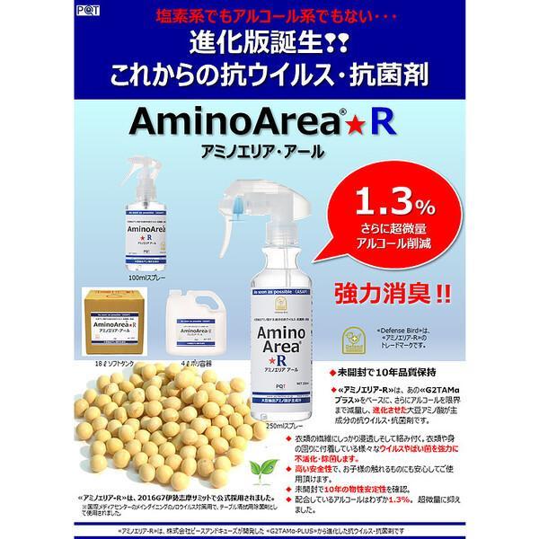 10年保存 除菌スプレー アミノエリア-R 250ml 日本製