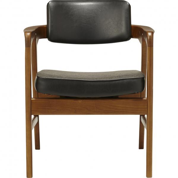 ACME Furniture WARNER ARM CHAIR BLACK アクメ・ファニチャー ワーナー ダイニングチェア ブラック イス 肘付き 【送料無料】