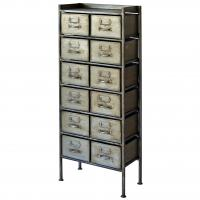journal standard Furniture GUIDEL 12DRAWERS CHEST SILVER
