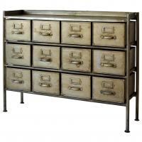 journal standard Furniture GUIDEL 12DRAWERS CHEST WIDE SILVER 【送料無料】