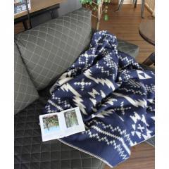 journal standard Furniture NORDIC BLANKET NAVY