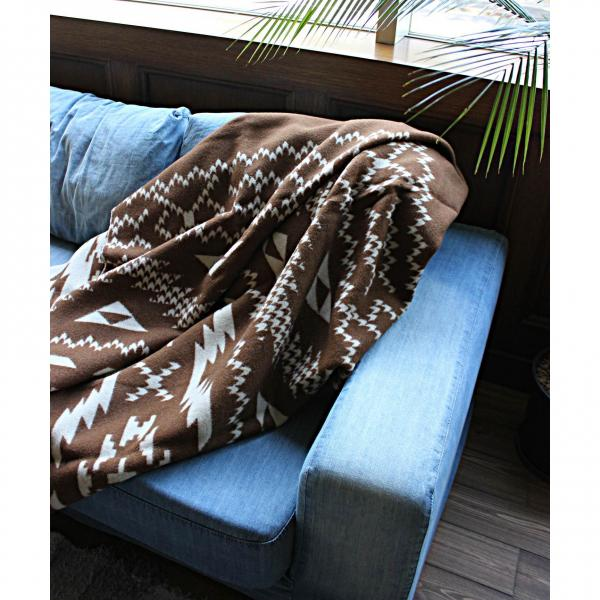 journal standard Furniture NORDIC BLANKET BROWN