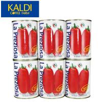 <6缶セット>ラ・プレッツィオーザ ホールトマト缶 400g×6缶