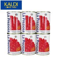 <6缶セット>ラ・プレッツィオーザ ダイストマト缶 400g×6缶
