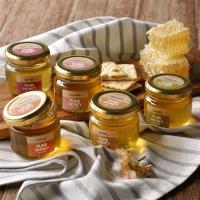 【送料無料】国産蜂蜜お試し【5個入り】セット (レンゲ・みかん・百花・そよご・もち)各90g