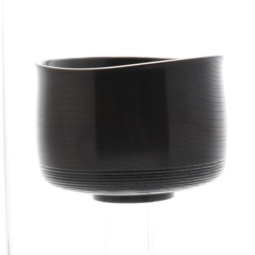 欅 抹茶椀 黒摺