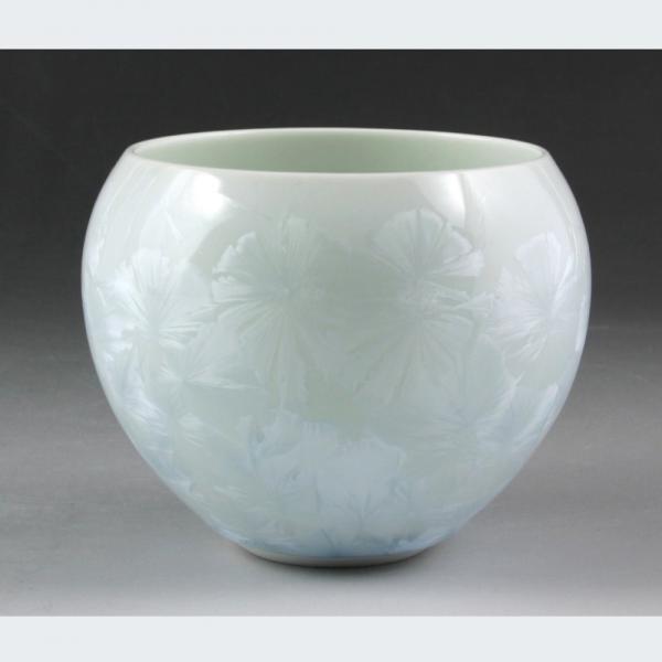清水焼 花結晶(白) お茶呑茶碗