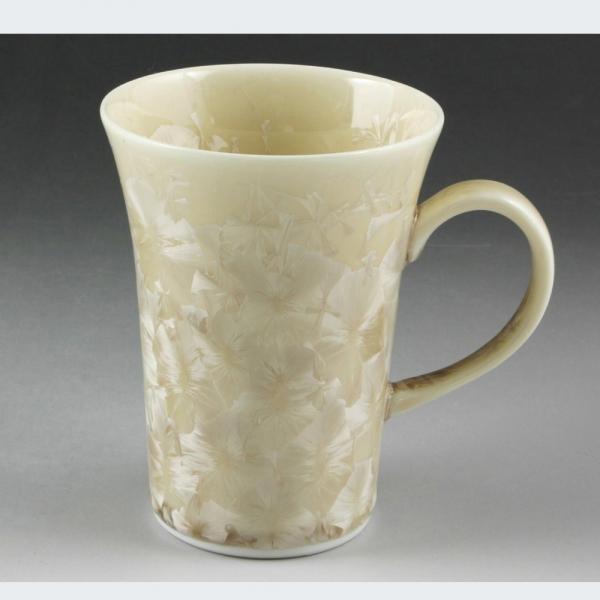 清水焼 花結晶(茶)マグカップ