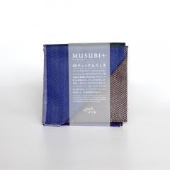 MUSUBI+48チェック  ネイビーミックス