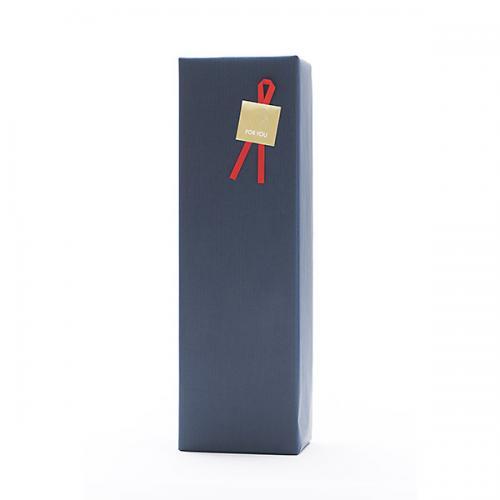 ギフトボックス(1本用)包装紙【紺】・のし可【1~3営業日以内に出荷予定(土日祝除く)】