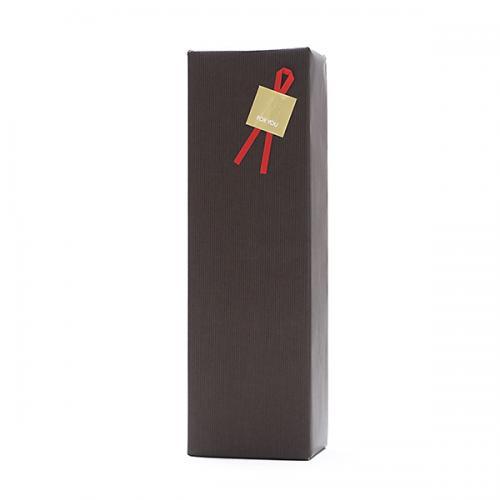 ギフトボックス(1本用)包装紙【茶】・のし可【1~3営業日以内に出荷予定(土日祝除く)】