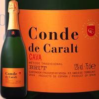 コンテ・デ・カラル・カバ・ブリュット【スペイン】【白スパークリングワイン】【750ml】【カヴァ】【辛口】【金賞】【1~3営業日以内に出荷予定(土日祝除く)】