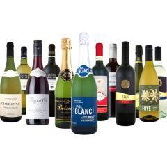 【送料無料】第60弾!スパークリングワイン、赤ワイン、白ワイン!得旨ウルトラバリュー12本セット!【1~3営業日以内に出荷予定(土日祝除く)】