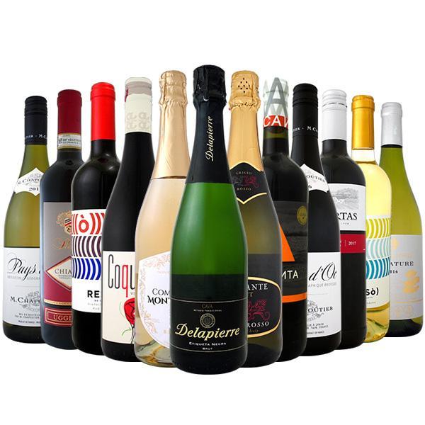 ワイン 【送料無料】第78弾!1本あたり665円(税別)!スパークリングワイン、赤ワイン、白ワイン!得旨ウルトラバリューワインセット 12本!【1~3営業日以内に出荷予定(土日祝除く)】
