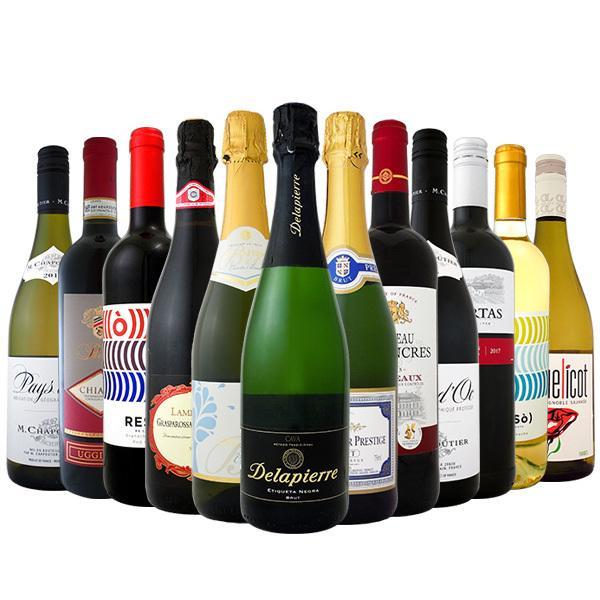 ワイン 【送料無料】第79弾!1本あたり665円(税別)!スパークリングワイン、赤ワイン、白ワイン!得旨ウルトラバリューワインセット 12本!【1~3営業日以内に出荷予定(土日祝除く)】