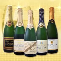 【送料無料】こだわりシャンパン1本&上質クレマン4本!全てフランス格上スパークだけ5本セット!【1~3営業日以内に出荷予定(土日祝除く)】