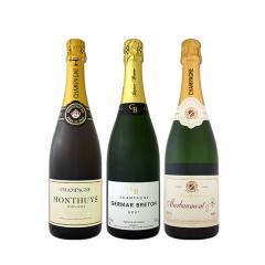 【送料無料】全てシャンパン!数量限定本格派シャンパン3本セット!【1~3営業日以内に出荷予定(土日祝除く)】