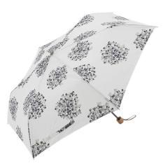 KEYUCA(ケユカ) 折畳傘 晴雨兼用 ブーケ アイボリー