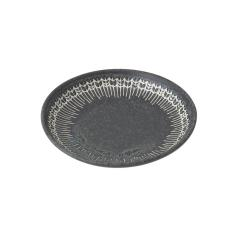 KEYUCA(ケユカ) [日本製 美濃焼] YABANE プレート 14cm ブラック