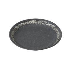 KEYUCA(ケユカ) [日本製 美濃焼] YABANE プレート 19.5cm ブラック