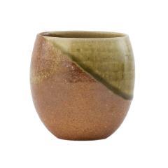 KEYUCA(ケユカ) [日本製 信楽焼] 佳風 湯呑 大 グリーン