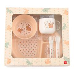 KEYUCA(ケユカ) animal ベビー食器セット ピンク