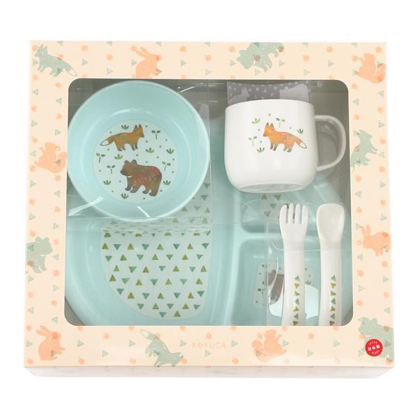 KEYUCA(ケユカ) animal ベビー食器セット ライトブルー
