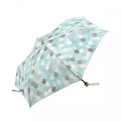 KEYUCA(ケユカ) 折畳傘 晴雨兼用 ルーフ ブルー