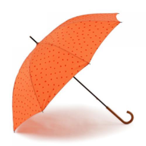 KEYUCA(ケユカ) 長傘 晴雨兼用フラワードット オレンジ