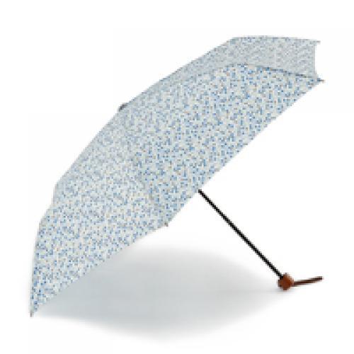 KEYUCA(ケユカ) 折畳傘 晴雨兼用ランダムドット ブルー