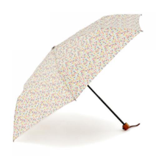 KEYUCA(ケユカ) 折畳傘 晴雨兼用ランダムドット ピンク